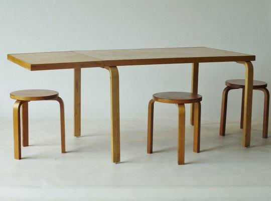 Drop Leaf Extendable Dining Table By Alvar Aalto For Artek, 1940s 3