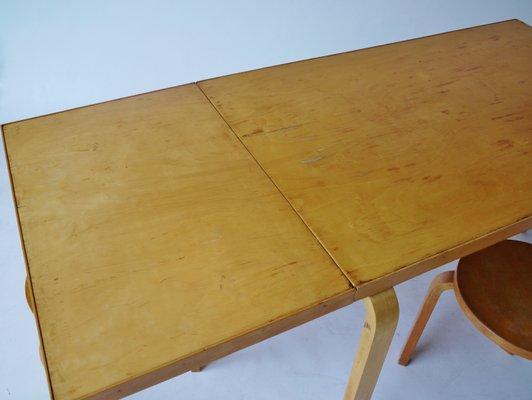 Drop Leaf Extendable Dining Table By Alvar Aalto For Artek, 1940s 9