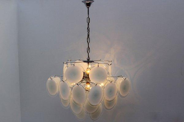 Mid century italian white murano glass chandelier by vistosi 1960s mid century italian white murano glass chandelier by vistosi 1960s imagen 2 aloadofball Choice Image