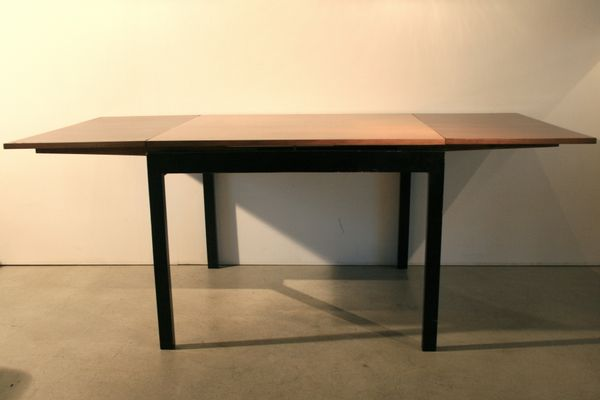 Captivating Mid Century Square Extendable Table By Willy Guhl 5