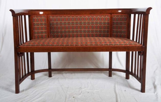 Antique Bentwood Settee by Josef Hoffmann for Thonet 1 - Antique Bentwood Settee By Josef Hoffmann For Thonet For Sale At Pamono