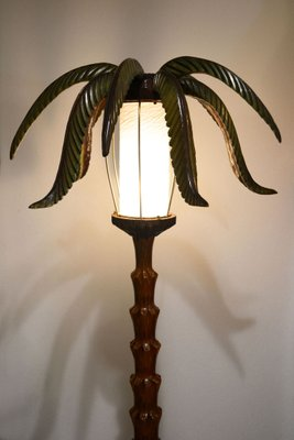 Wooden palm tree floor lamp 1950s for sale at pamono wooden palm tree floor lamp 1950s 3 aloadofball
