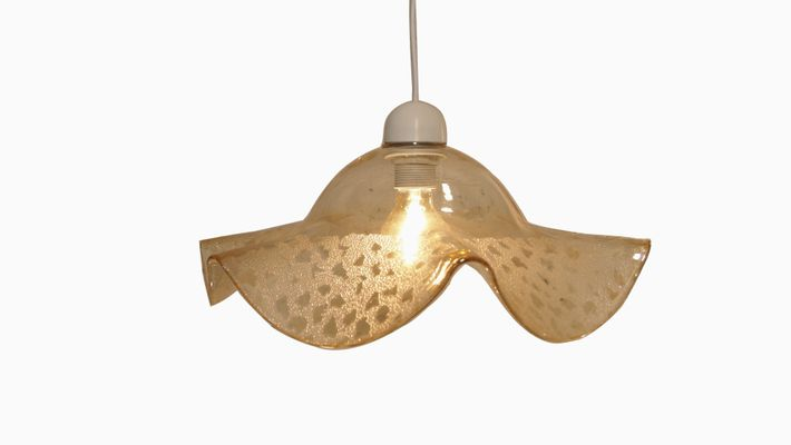 Mid Century Smoked Murano Glass Pendant Hanging Light From Venini 1960s 1