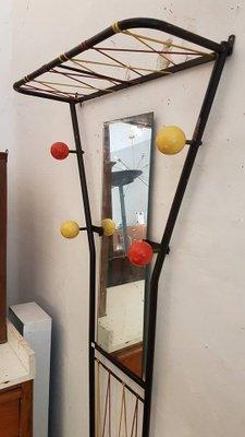Appendiabiti da parete con specchio e portaombrelli in vendita su Pamono