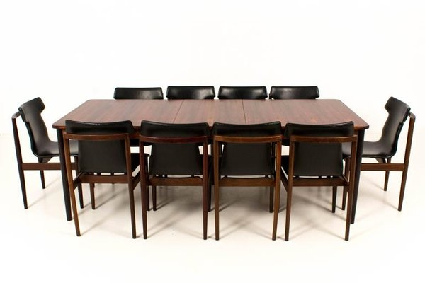 Mid Century Modern Dutch Rosewood Extendable Dining Table By Fristho 1960s 6