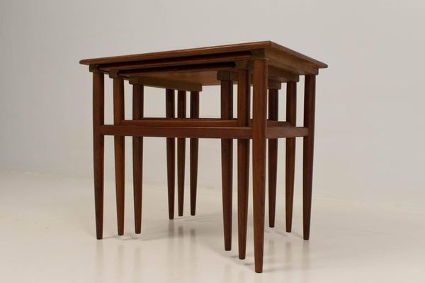Danish Nesting Tables in Teak for sale at Pamono
