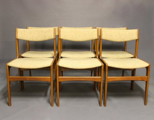 Teak Dining Chairs By Erik Buch, 1960s, Set Of 6 1
