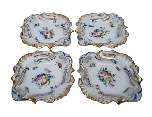 Antique Old Paris Hand-Painted Serving Dishes Set of 4 1  sc 1 st  Pamono & Antique Old Paris Hand-Painted Serving Dishes Set of 4 for sale at ...