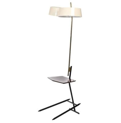 Brass and lacquered metal floor lamp 1950s for sale at pamono brass and lacquered metal floor lamp 1950s 1 mozeypictures Gallery