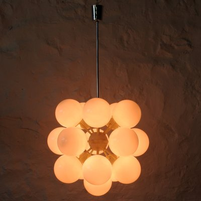 Vintage Pendant With 16 Globe Lamps, 1960s 3