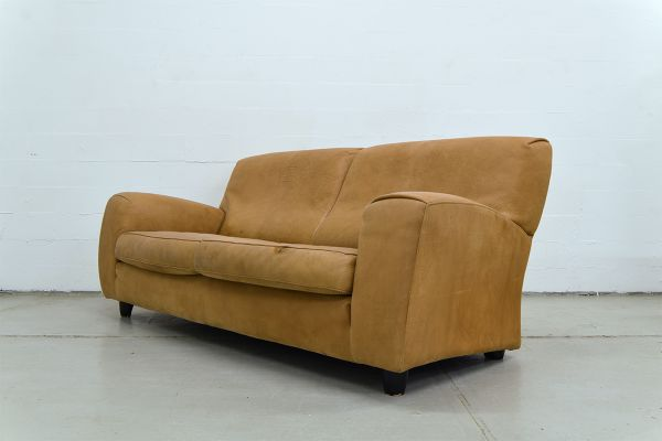 Vintage Italian Leather Sofa From Molinari 6
