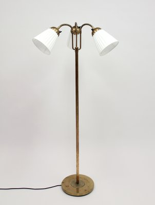 Brass three light floor lamp 1940s for sale at pamono brass three light floor lamp 1940s 2 aloadofball Gallery