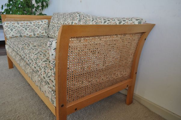 Vintage Rattan Two Seater Sofa From Arne Norell 4