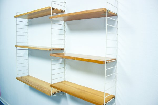 Nisse Strinning pine wall unit by nisse strinning for string 1950s for sale at pamono