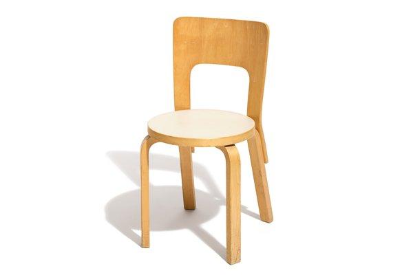 Vintage Model 66 Dining Chairs By Alvar Aalto For Artek, Set Of 4 1