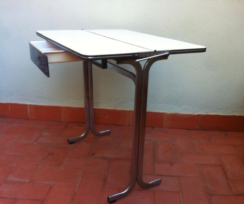 Belgian Formica Folding Kitchen Table with Drawer, 1960s for sale at ...