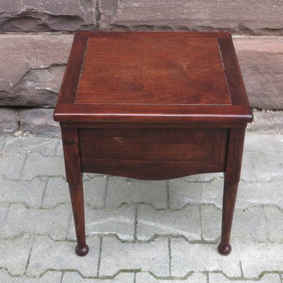 Biedermeier Mahogany Toilet Chair With Recessed Ceramic Top 2