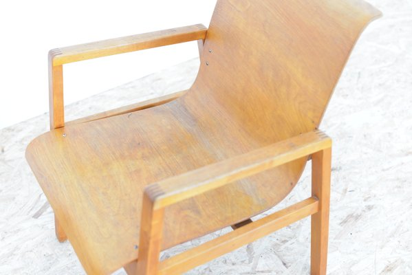 Vintage Model 403 Hallway Chairs By Alvar Aalto For Huonekalu Ja  Rakennustyöte, Set Of