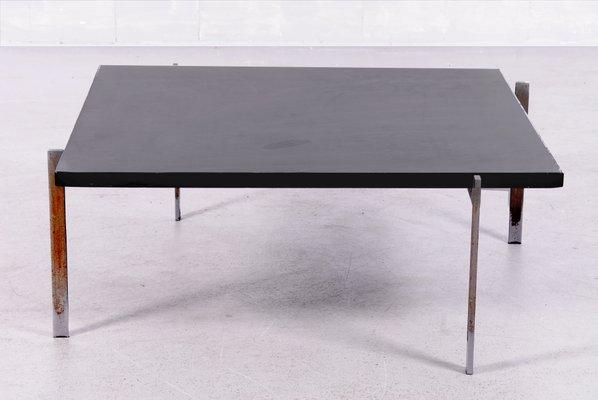 Table Basse PK61 Vintage avec Plateau en Ardoise Noire par Poul ...