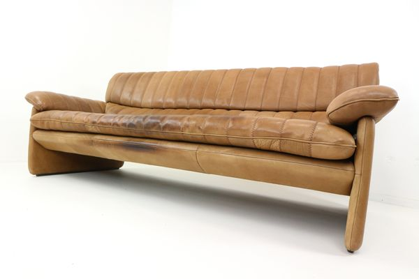 DS 85 Leather Three Seater Sofa From De Sede, 1970s 1