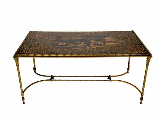 Amazing Chinoiserie Coffee Table   Chinoiserie Coffee Table In Bronze From Maison Bagues 1