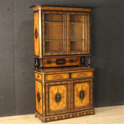 Antique English Inlaid Cupboard, 1870s 1 - Antique English Inlaid Cupboard, 1870s For Sale At Pamono