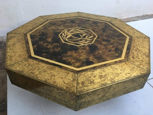 Acid Etched Brass Table By Bernhard Rohne For Mastercraft S