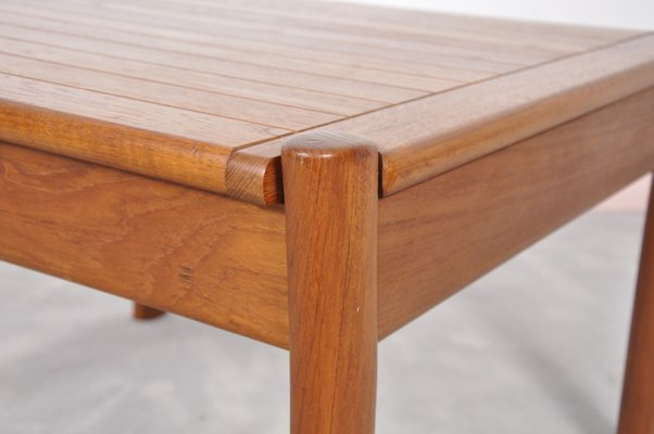 Vintage Danish Teak Coffee Table With Rounded Edges 5