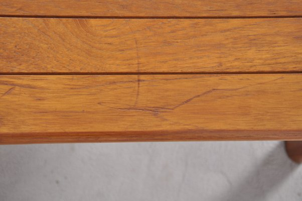 Vintage Danish Teak Coffee Table With Rounded Edges 7