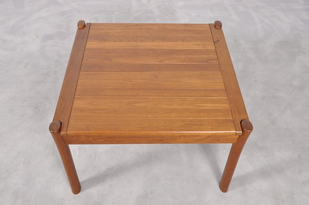 Vintage Danish Teak Coffee Table With Rounded Edges 6