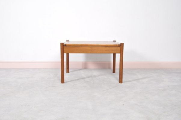 Vintage Danish Teak Coffee Table with Rounded Edges for sale at Pamono