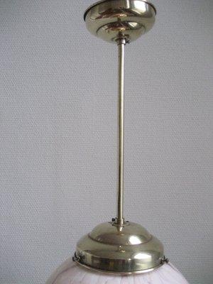 Lampada a sospensione Art Deco con paralume in vetro marmorizzato in ...