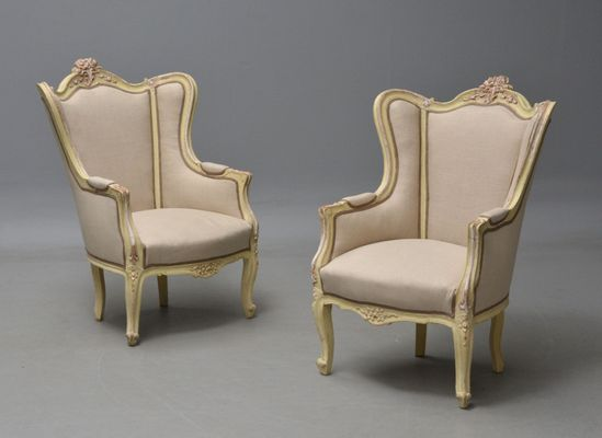 Antique French Bergère Chairs, Set of 2 1 - Antique French Bergère Chairs, Set Of 2 For Sale At Pamono