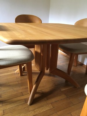 Elegant Mid Century Dining Table U0026 Four Chairs From Juul Kristensen 3