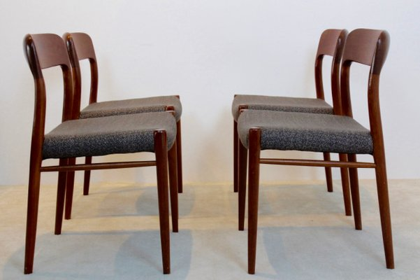 Model 75 Dining Chairs By Niels Otto Møller For J.L. Møllers Møbelfabrik  A/S,
