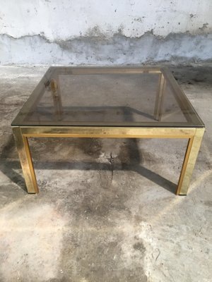 Italian Coffee Table With Smoked Glass Top, 1970s 2