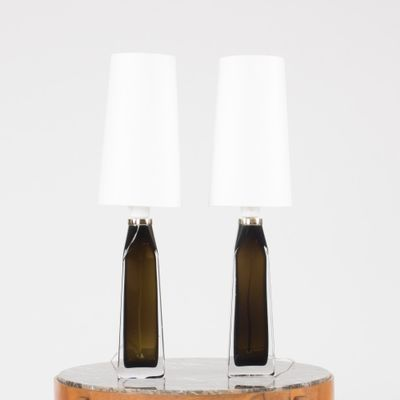 Glass table lamps by carl fagerlund for orrefors 1950s set of 2 1