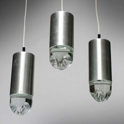 Vintage Pendant Lights With Solid Glass From Raak Set Of 6 1
