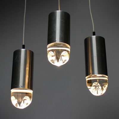 Vintage Pendant Lights With Solid Glass From Raak Set Of 6 2