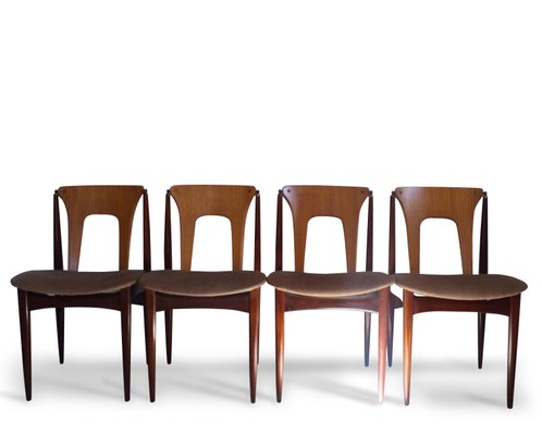 Great Mid Century Dining Chairs By Elliotts Of Newbury, Set Of 4 1