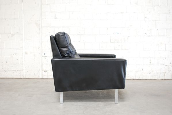 Vintage Black Leather Armchairs From De Sede, 1967, Set Of 2 27