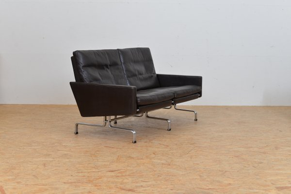 Mid Century Two Seater Leather Sofa By Poul Kjærholm For Fritz Hansen 11
