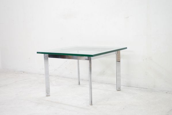 Vintage Glass Chrome Coffee Table for sale at Pamono