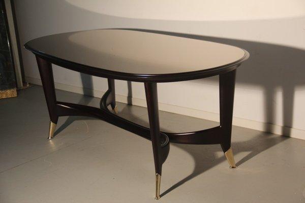 Italian Mahogany U0026 Mirrored Glass Dining Table, 1950s 13