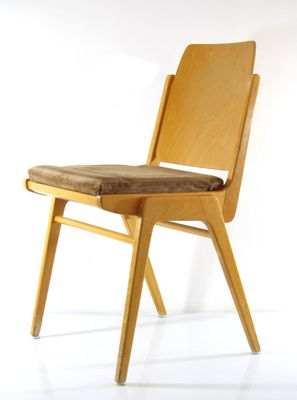 Vintage Plywood Chair By Franz Schuster For Wiesner Hager 1