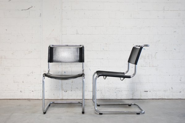 High Quality Vintage S33 Chairs By Mart Stam For Thonet, Set Of 2 1