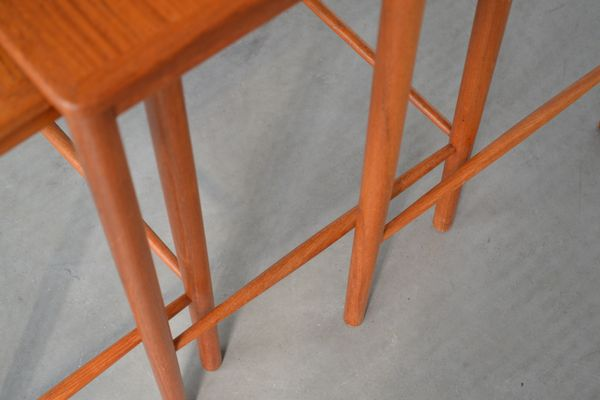 Nesting Tables By Grete Jalk For P. Jeppesens Møbelfabrik, 1960s 4