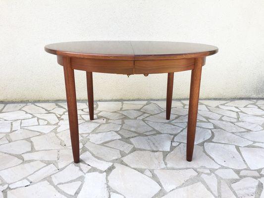 Tavolo da pranzo vintage rotondo in palissandro in vendita su Pamono