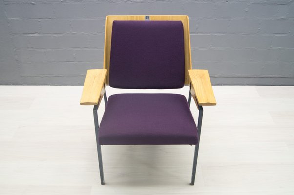 Mid Century Purple Armchair By Wunibald Puchner For The Meistersingerhalle  Nürnberg, 1958 9