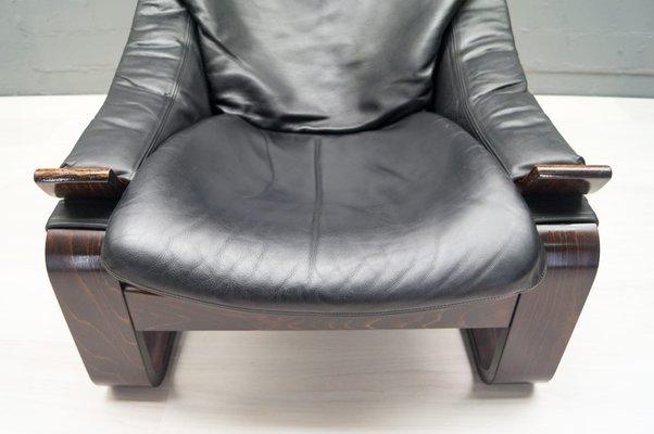 Vintage Leather Armchair by Åke Fribytter for Nelo Möbel for sale at ...